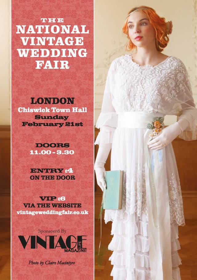 National Vintage Wedding Fair London 2016 Poster