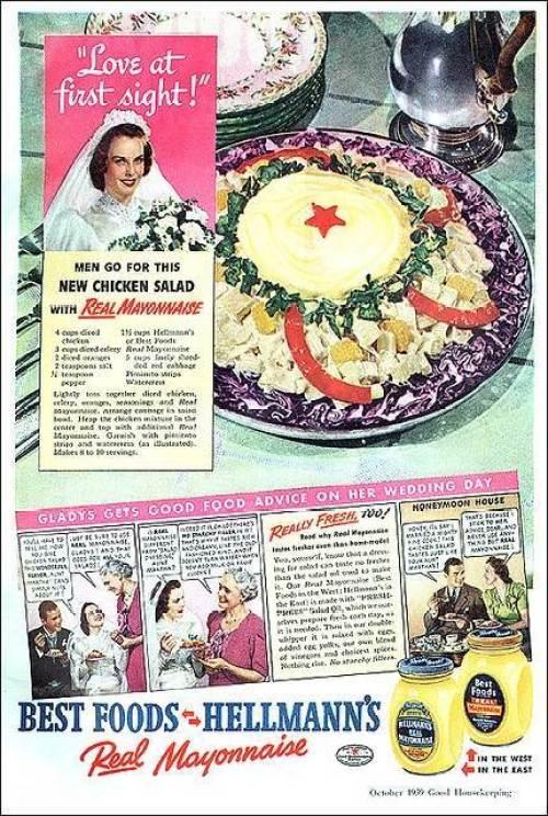 Wedding memories - Vintage wedding adverts we love Hellmans via the National Vintage Wedding Fair blog