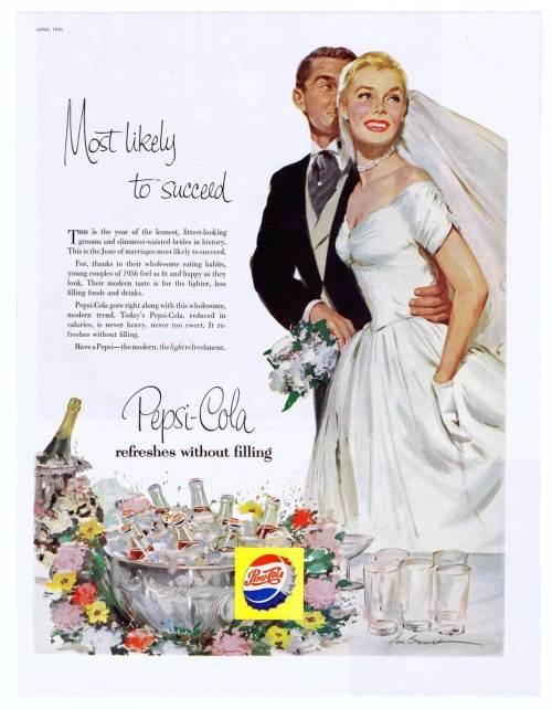 Wedding memories - Vintage wedding adverts we love Pepsi via the National Vintage Wedding Fair blog