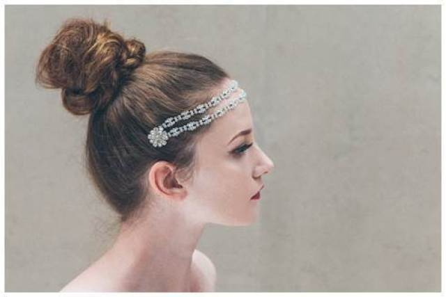 Darcey 1920s inspired vintage wedding hair accessories jewellery by DC Bouquets via The National Vintage Wedding Fair