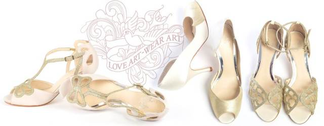Vintage wedding shoes from Love Art Wear Art at the National Vintage Wedding Fair