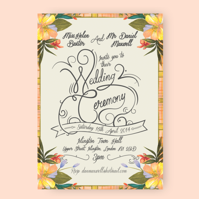 Vintage wedding stationary invitations by CLAM Correspondence at the National Vintage Wedding Fair
