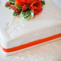 Vintage style wedding featuring orange touches photos by barbara.k.photography and featured on The National Vintage Wedding Fair