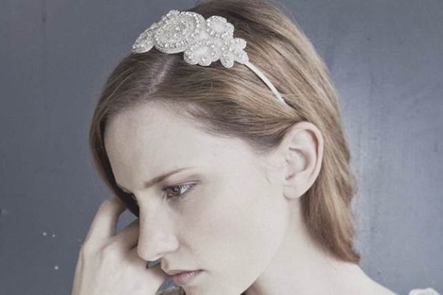 Debbie Carlisle wedding hair accessories as featured on The National Vintage Wedding Fair
