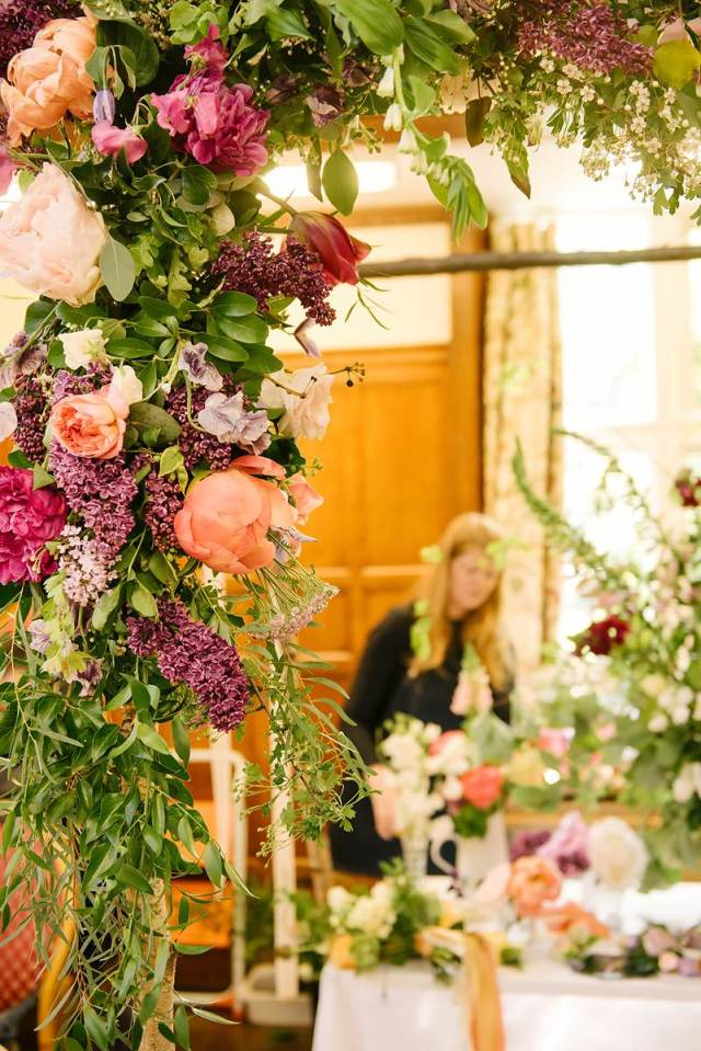 The National Vintage Wedding Fair in London Greenwich, taken by Lily Sawyer: wedding flowers
