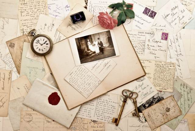 How to create the perfect wedding scrapbook from The National Vintage Wedding Fair blog