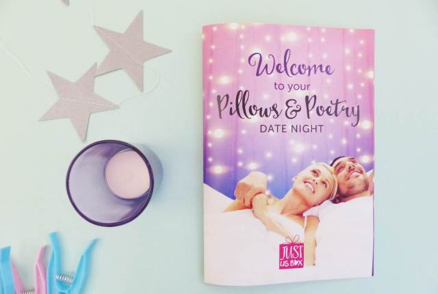 Pillows and Poetry Date Night Subscription box by Jus Us Box at The National Vintage Wedding Fair