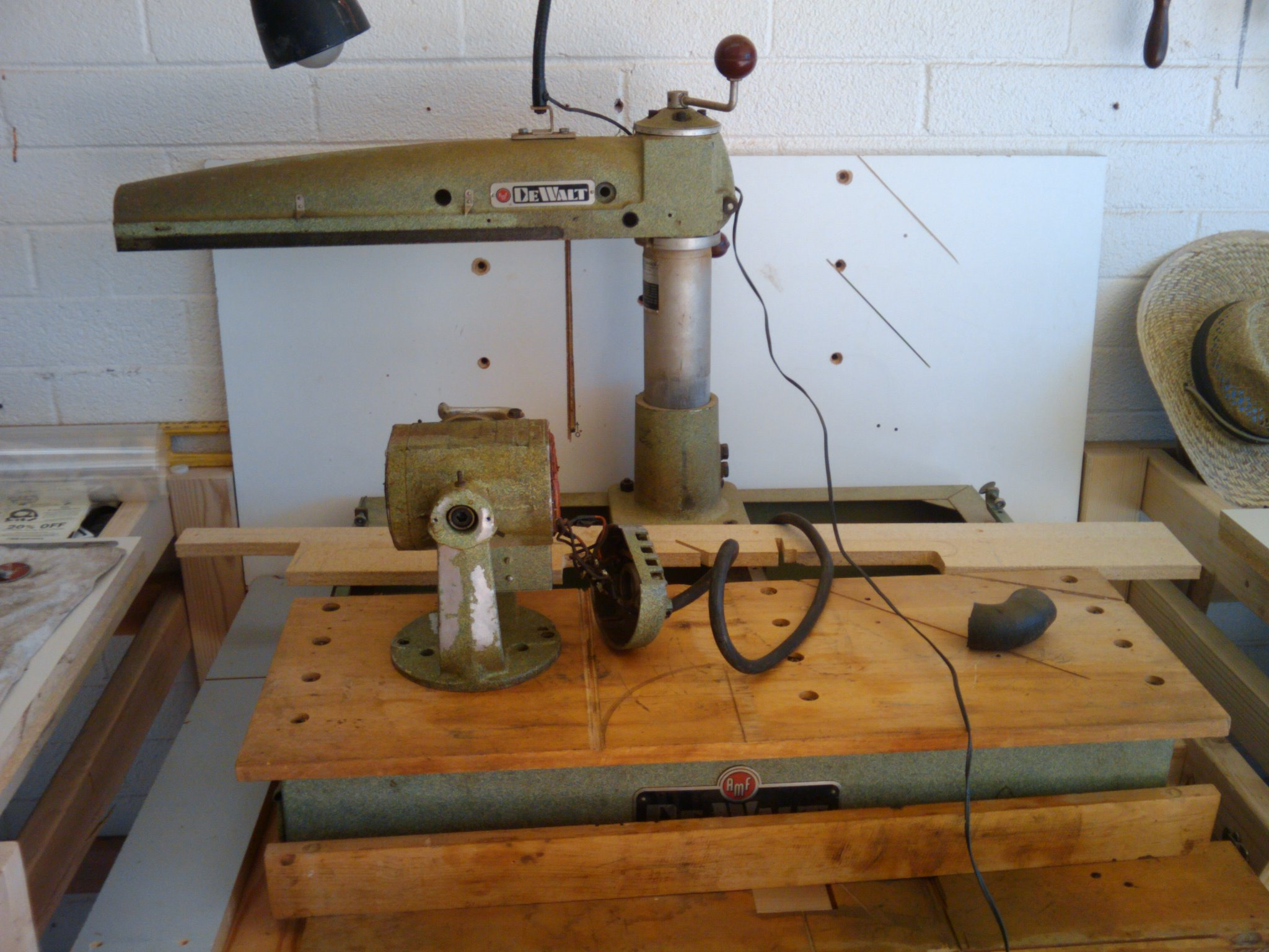 1957 Dewalt 10 Radial Arm Saw Gw I Vintage Wood Shop