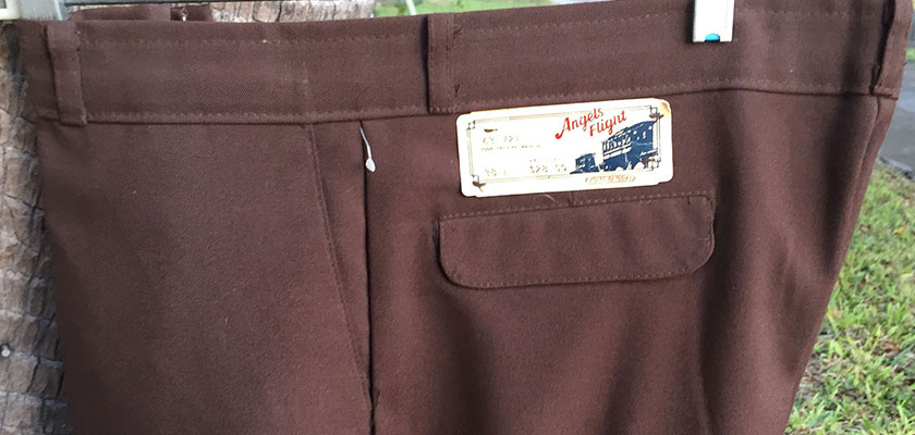 Angel Fight 70s Vintage Dark Brown Boot Cut Pants
