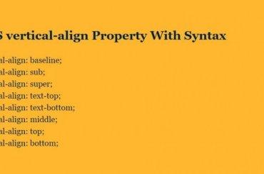 CSS Vertical Align Text