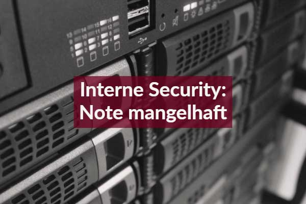 Internet Security: Note mangelhaft