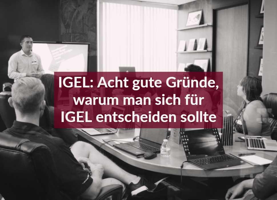 IGEL: Acht gute Gründe, warum man sich für IGEL entscheiden sollte