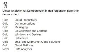 VINTIN Microsoft Kompetenzen