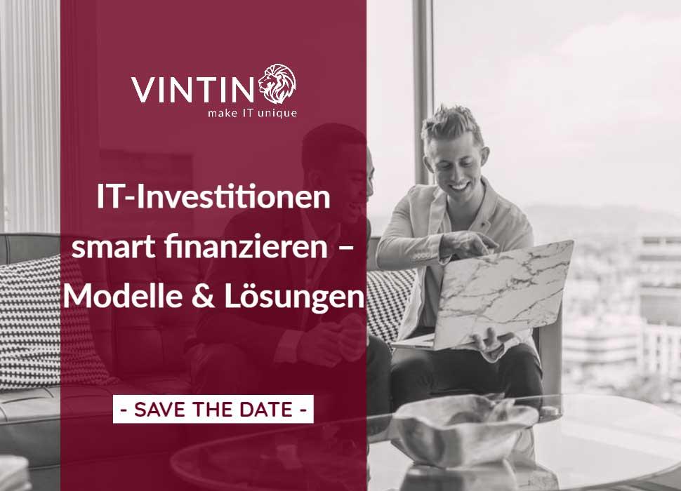 VINTIN Webinar: IT-Investitionen smart finanzieren – Modelle & Lösungen