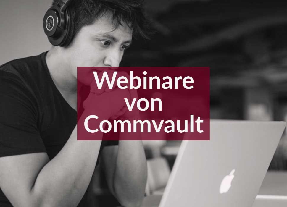 Webinare von Commvault