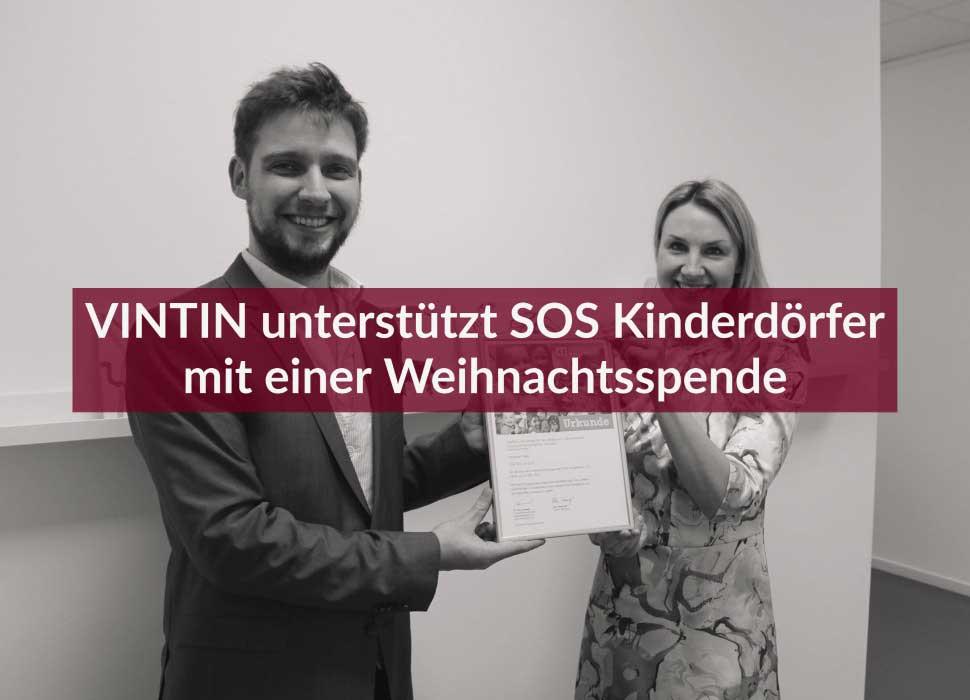 Pressemitteilung: VINTIN unterstützt SOS Kinderdörfer mit einer Weihnachtsspende