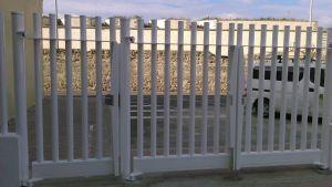 Puerta para empalizada tubos