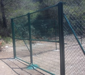 Puerta Malla electrosoldada plastificada