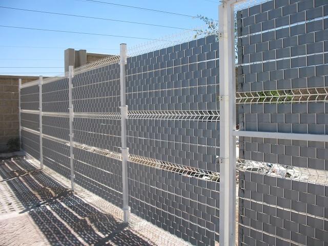 Vinuesa vallas cercados valla electrosoldada con lamas - Ocultacion vallas jardin ...