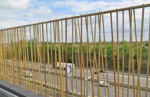 Verja modelo bambú de barrotes aleatorios