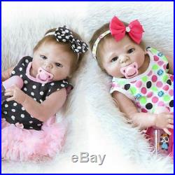 23 Waterproof Bath Handmade Silicone Full Body Newborn Reborn Baby Dolls Twins