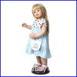 28 inch Reborn Toddler Girls Full Body Vinyl Toys Reborn Baby Dolls Can Stand