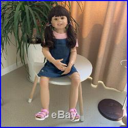 39 Huge Reborn Toddler Realistic Denim Skirt Reborn Baby Dolls Girl Child Model 07 wos