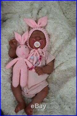 REBORN DOLL 5LBS 7oz 19 REALBORN BABY ALMA with COA, BY MARIE TEXTURED SKIN