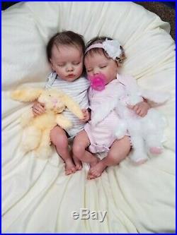 Reborn Baby Boy and Girl Twin A & B by Bonnie Brown Reborn Dolls Lifelike