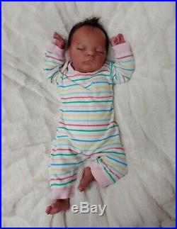 Reborn Baby Girl Luxe by Cassie Brace SOLD OUT Ltd Ed Ethnic Newborn Doll