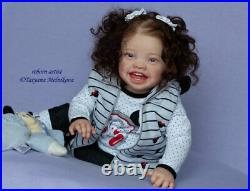 Reborn baby doll Mila (Mila by Ping Lau)/Artist Tatyana Melnikova