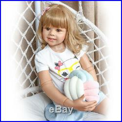 Standing Reborn Toddler Girl Dolls 39 Large Toddler Baby Vinyl Masterpiece Doll