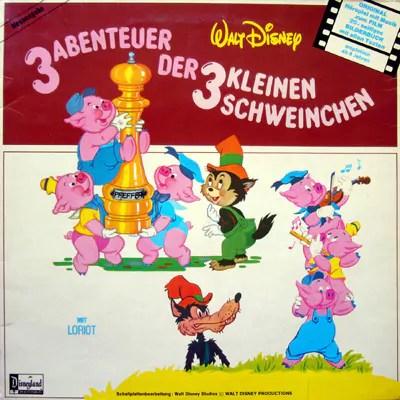Petra Schmidt-Decker - Walt Disney: 3 Abenteuer Der 3 Kleinen Schweinchen (LP)