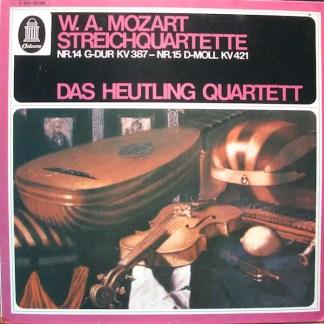 W.A. Mozart*, Heutling-Quartett - Streichquartette Nr.14 G-Dur KV 387 - Nr.15 D-Moll KV 421 (LP)