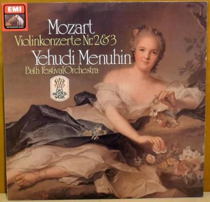 Mozart*, Yehudi Menuhin, Bath Festival Orchestra - Violinkonzerte Nr.2&3 (LP, Album, RE)