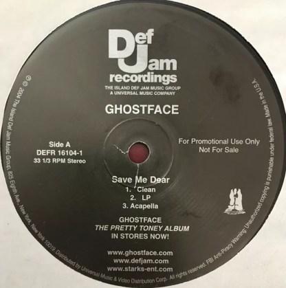 """Ghostface* - Save Me Dear (12"""", Promo)"""