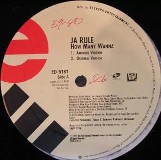 """Ja Rule - How Many Wanna (12"""", Promo)"""