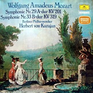 Wolfgang Amadeus Mozart, Berliner Philharmoniker, Herbert Von Karajan - Symphonie Nr.29 A-dur KV 201 / Symphonie Nr.33 B-dur KV 319 (LP, RE)