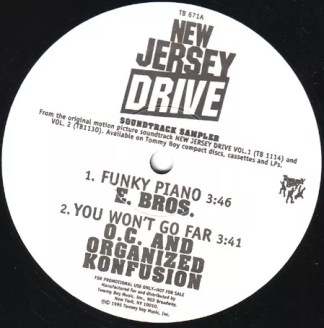 "Various - New Jersey Drive Soundtrack Sampler (12"", Promo, Smplr)"