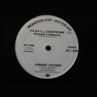 """Armand Duchien - (10-9-8-7...) Countdown (Compte Á Rebours) (12"""", Promo)"""