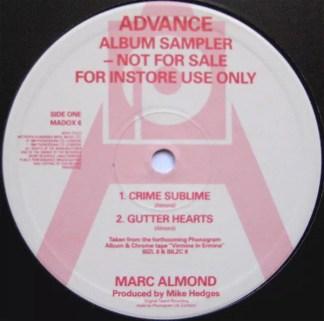 "Marc Almond - Advance Album Sampler (12"", Smplr)"