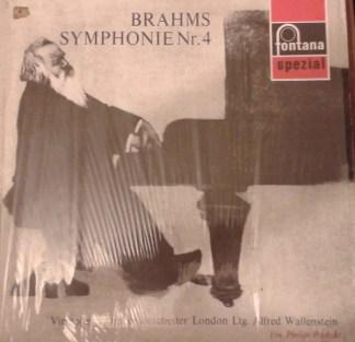 Brahms*, Virtuoses Symphonieorchester London Ltg. Alfred Wallenstein - Symphonie Nr. 4 (LP, Mono)