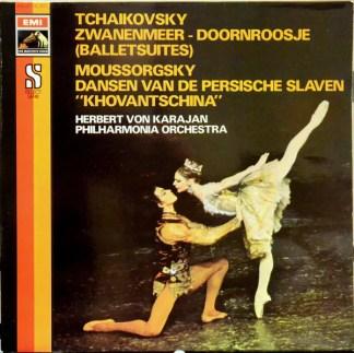 Tchaikovsky*  /  Mussorgsky*, Herbert von Karajan, Philharmonia Orchestra - Swanlake, Cinderella / Dances From Khovantschina (LP)