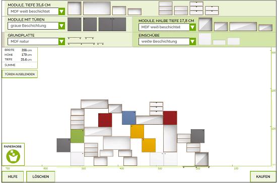 Konfigurator für Stocubo Cubes