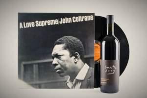 John Coltrane Vinyl plus Wein bei Hejvin Music
