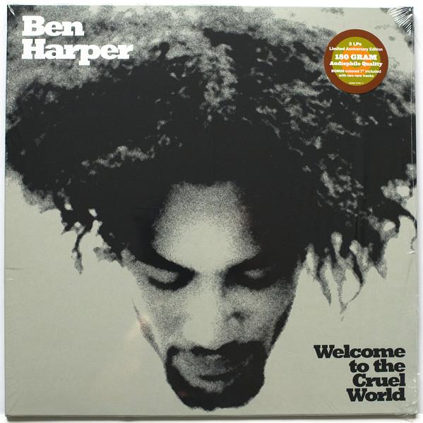 """BEN HARPER - WELCOME TO THE CRUEL WORLD Vinyl, LP, Album, 180 Gram, Gatefold Vinyl, 7"""", 45 RPM, White"""