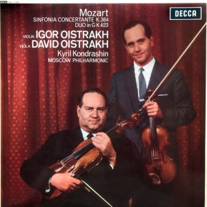 MOZART - Igor Oistrakh*, David Oistrakh*, Kyril Kondrashin*, Moscow Philharmonic* – Sinfonia Concertante K.364 / Duo In G K.423