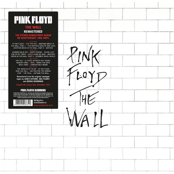 PINK FLOYD - THE WALL - 2 × Vinyl, LP, Album, Reissue, Remastered, Gatefold, 180g -PLAK