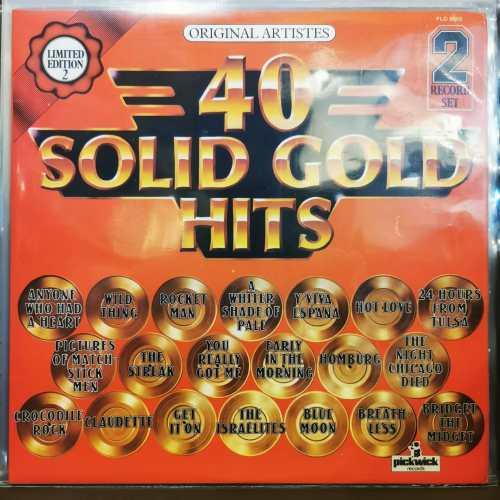 40 SOLID GOLD HITS- Vinyl, LP, Compilation, Stereo - ( Joe Cocker-Dionne Warwick-Status Quo)vb gibi - PLAK
