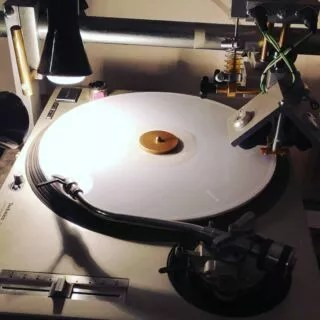"""White... I like it! 🙂 12"""" record full of Christmas music 🌲🌲🌲🏔️🌨️❄️☃️⛄  #12inch #white #vinyl #record #lathecut #lathecutvinyl #lathecutrecords #shortrunvinyl #vinyloveme #christmasiscoming #christmasgifts"""